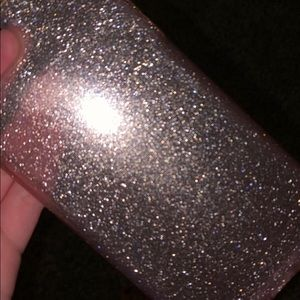 Light pink sparkles speck case